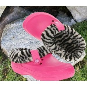 Crocs Blitzen REMOVABLE LINING Girls Clogs Pink